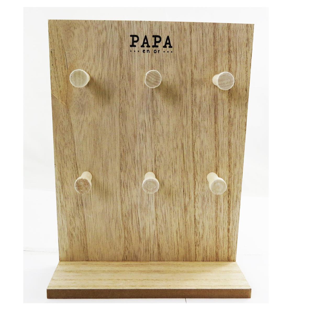 Porte-bijoux bois \'Papa en Or\' beige - 24x18x6 cm - [Q9688]