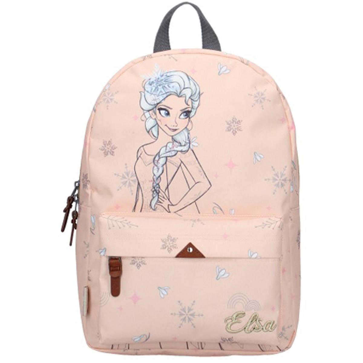 Sac à Dos \'Frozen - Reine des Neiges\' rose nude (Elsa) - 36x25x14 cm - [Q9753]