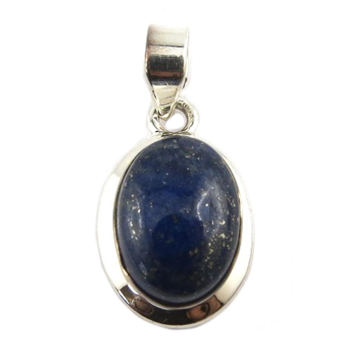 Pendentif Argent \'Heaven\' lapiz lazuli - 18x13 mm - [Q9861]