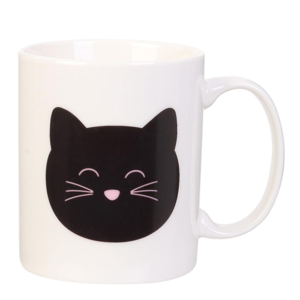 Mug céramique thermique \'Chats\' noir blanc - 35 cl - [R0343]