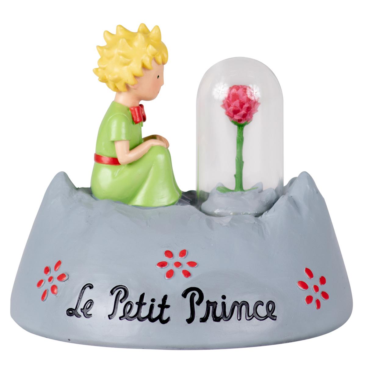 Figurine créateur \'Le Petit Prince\' gris multicolore (rose) - hauteur 11 cm - [R0495]