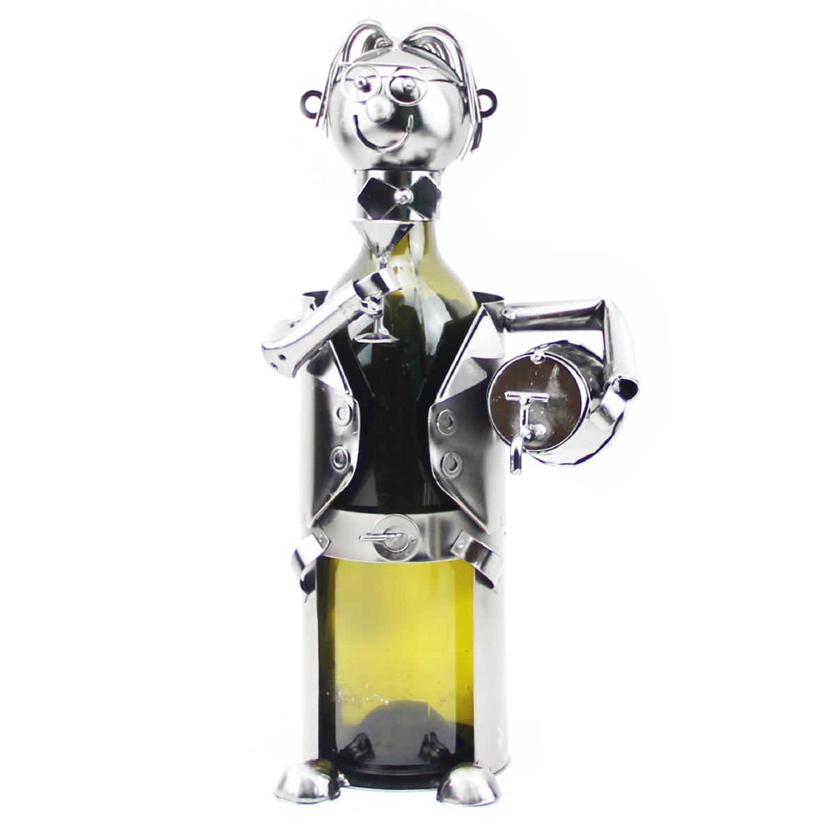 Porte-bouteille \'Sculpture métal\' Tavernier - 24 cm - [R0501]