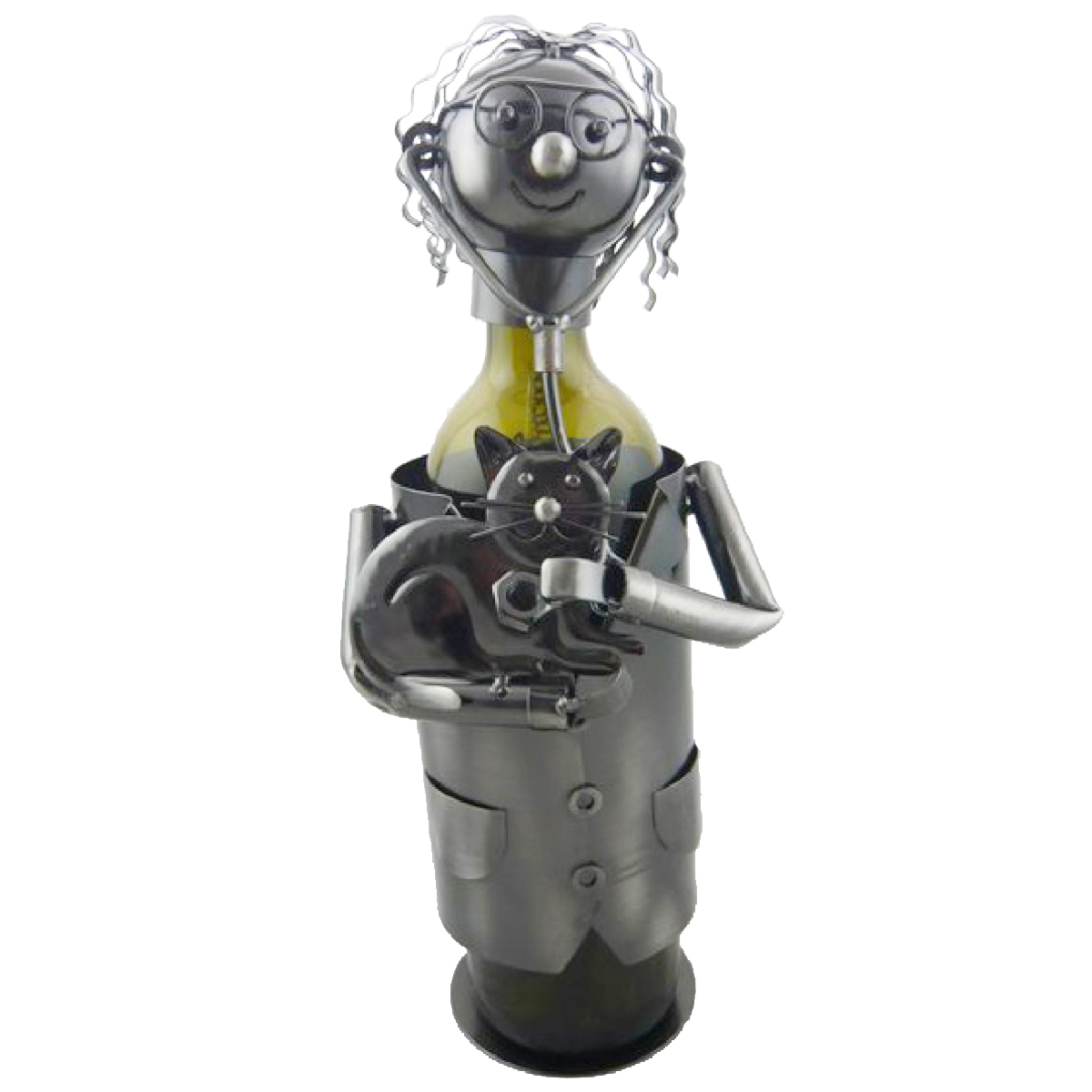 Porte-bouteille \'Sculpture métal\' Vétérinaire - 24 cm - [R0502]