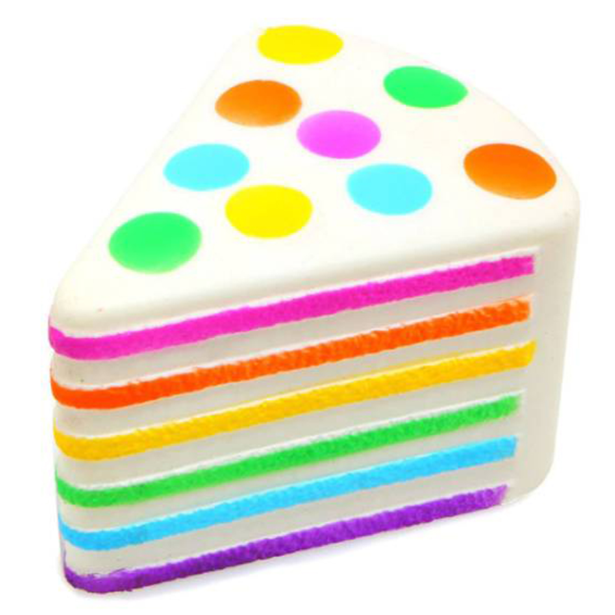 Anti-stress 3D squichy \'Cake Arc en Ciel\' multicolore - 95x8x65 cm - [R0544]
