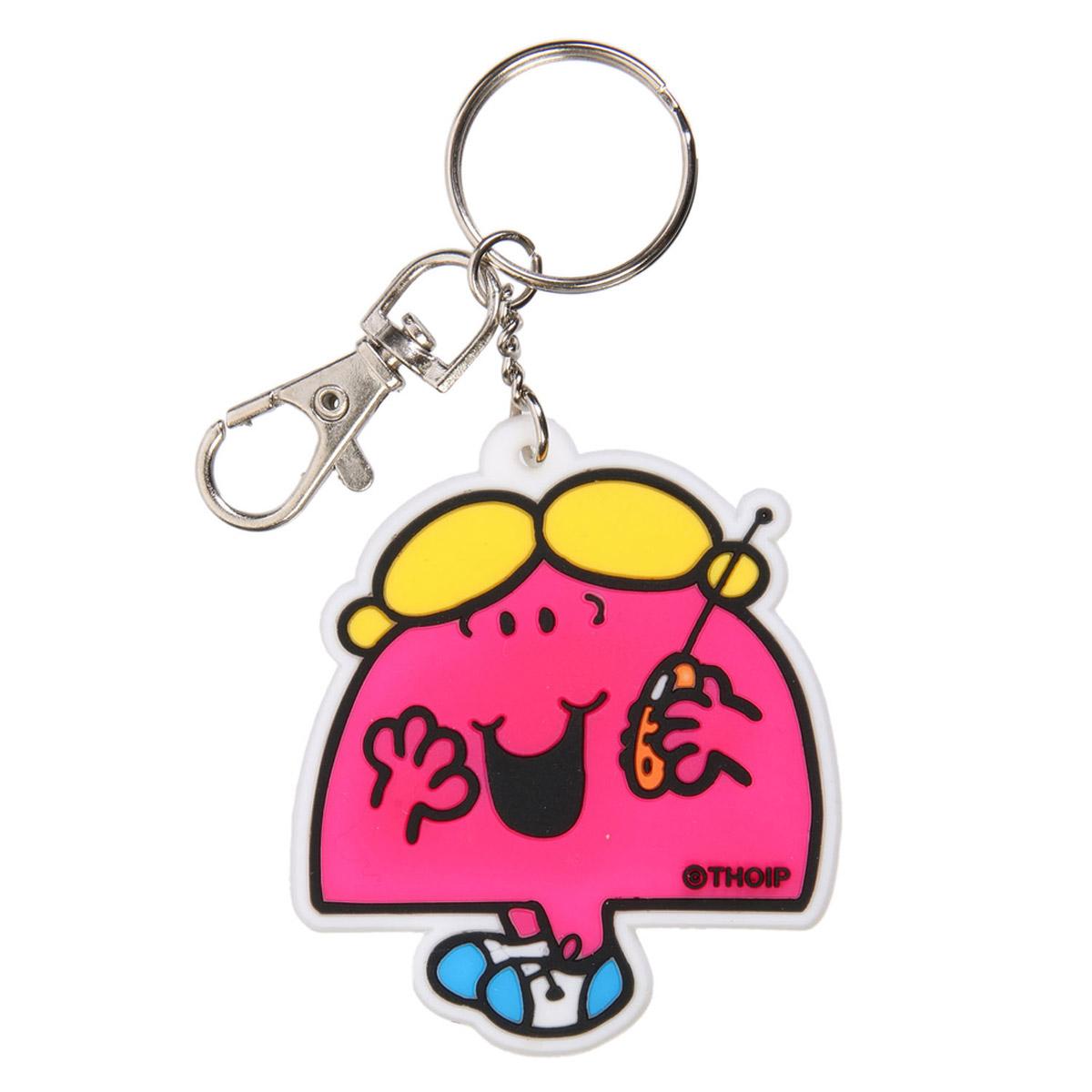 Porte-clés pvc \'Monsieur Madame\' rose - 60x60 mm - [R2462]