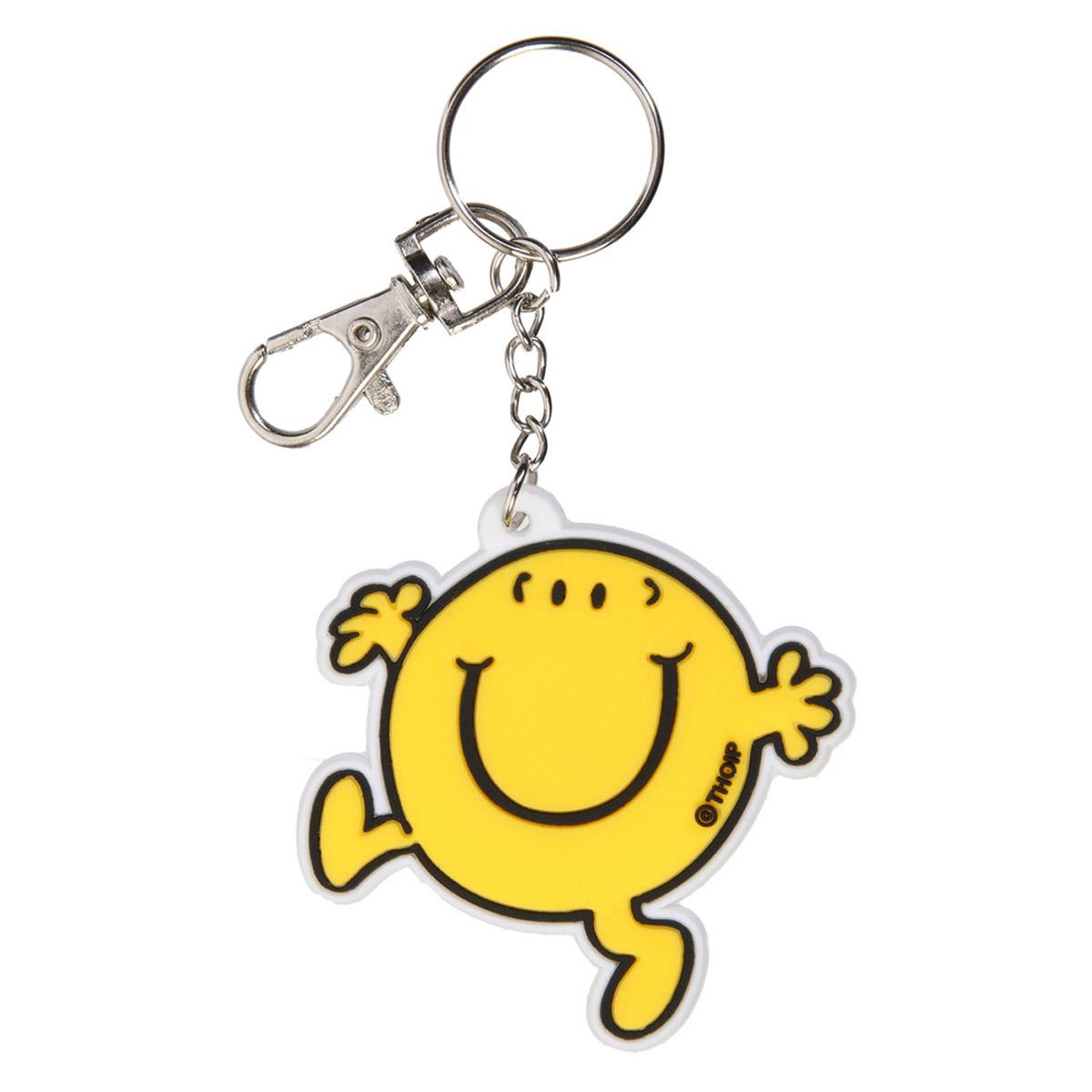 Porte-clés pvc \'Monsieur Madame\' jaune - 60x60 mm - [R2463]