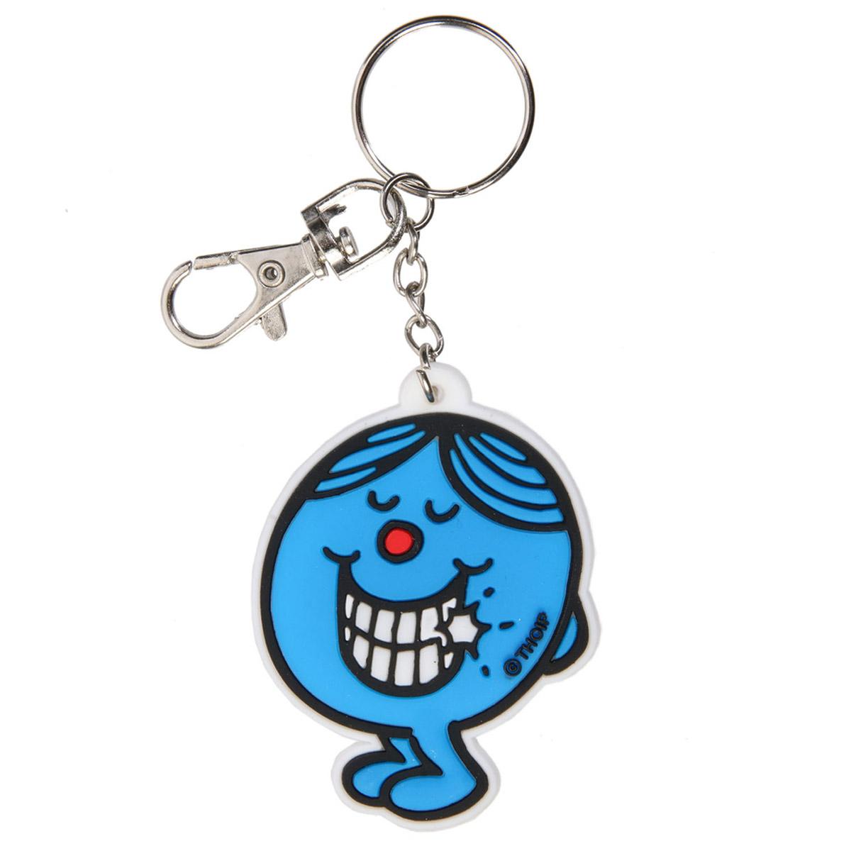Porte-clés pvc \'Monsieur Madame\' bleu - 60x60 mm - [R2464]