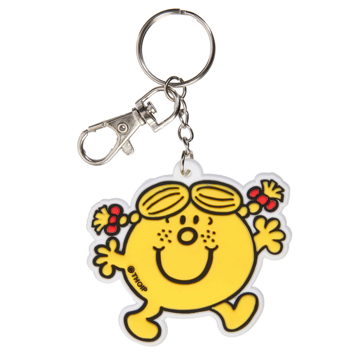 Porte-clés pvc \'Monsieur Madame\' jaune - 60x60 mm - [R2465]
