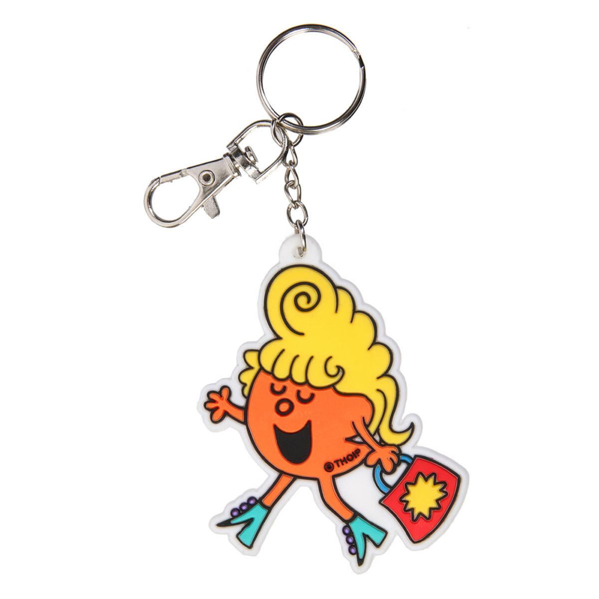 Porte-clés pvc \'Monsieur Madame\' orange - 60x60 mm - [R2467]
