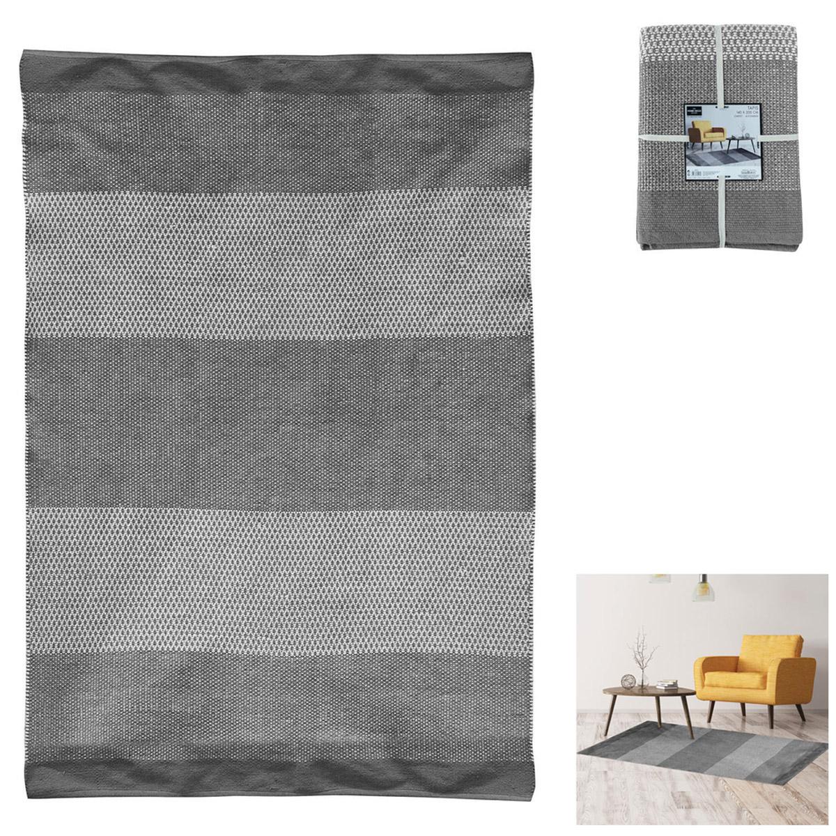 Tapis coton \'Boho\' gris - 200x140 cm - [R2490]