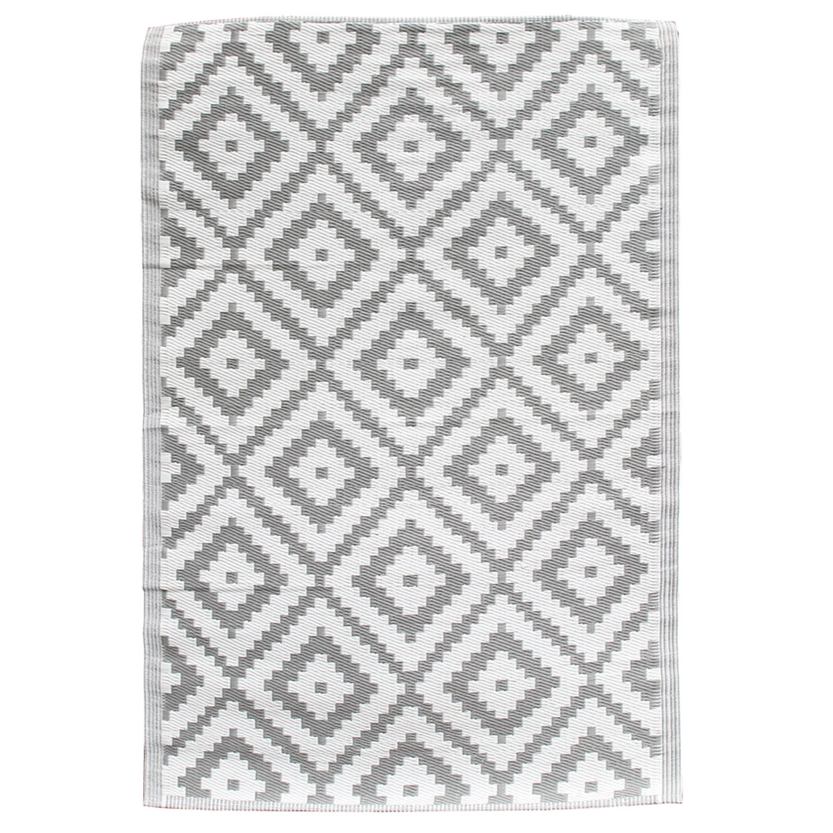 Tapis indoor outdoor \'Boho\' gris clair - 180x120 cm - [R2506]