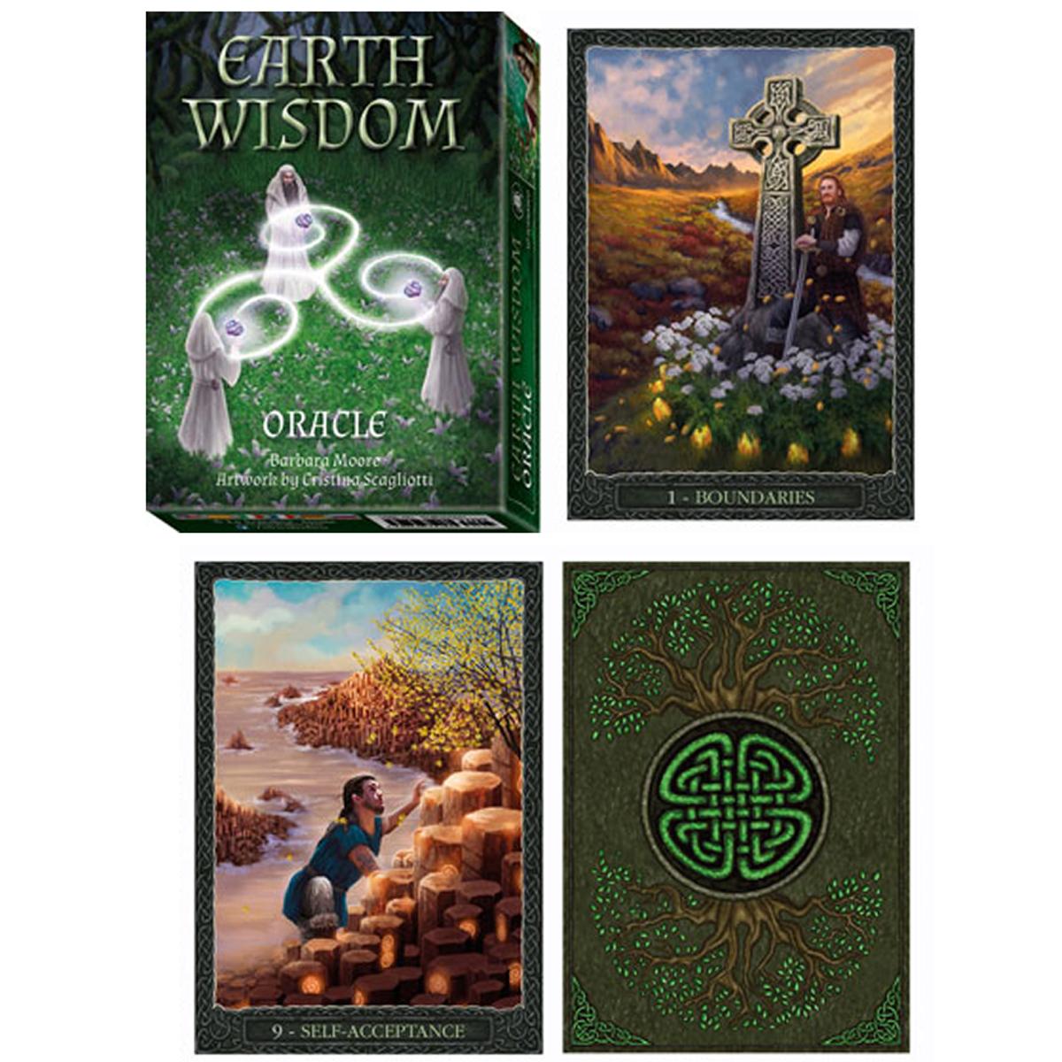 Jeu de cartes d\'inspiration \'Earth Wisdom\' (oracles) - 135x10x3 cm - [A1009]