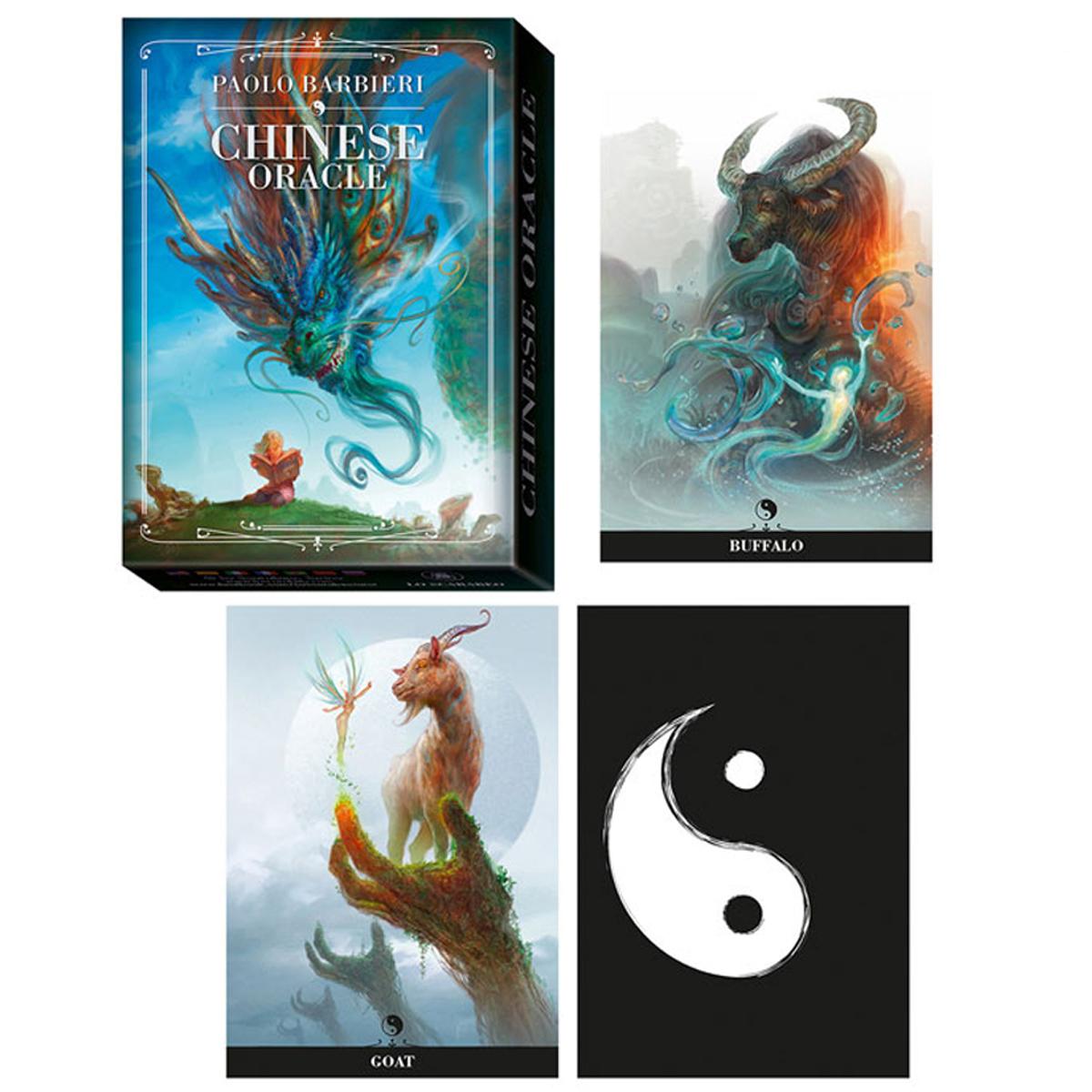 Jeu de cartes d\'inspiration \'Chinese Oracle\' (oracles) - 135x10x3 cm - [A1011]