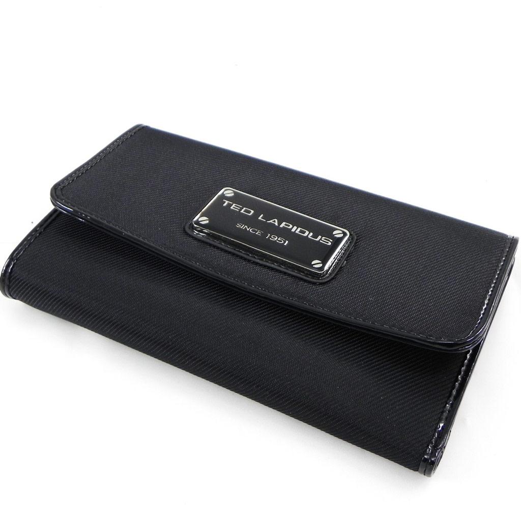 Grand Portefeuille Porte-monnaie \'Ted Lapidus\' noir - 19x12x3 cm - [G8496]