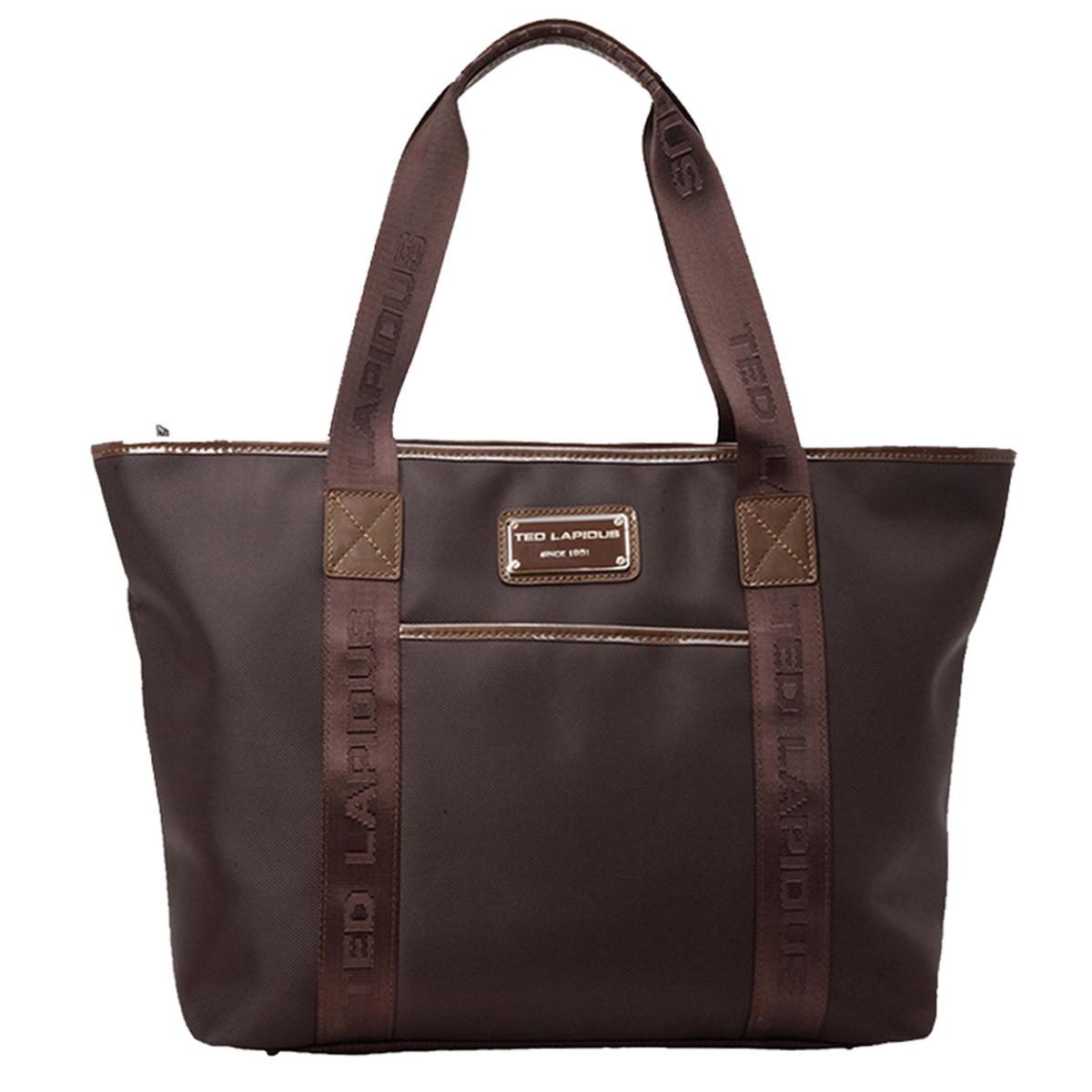 Sac shopping \'Ted lapidus\' marron  - 47x28x16 cm - [L2725]