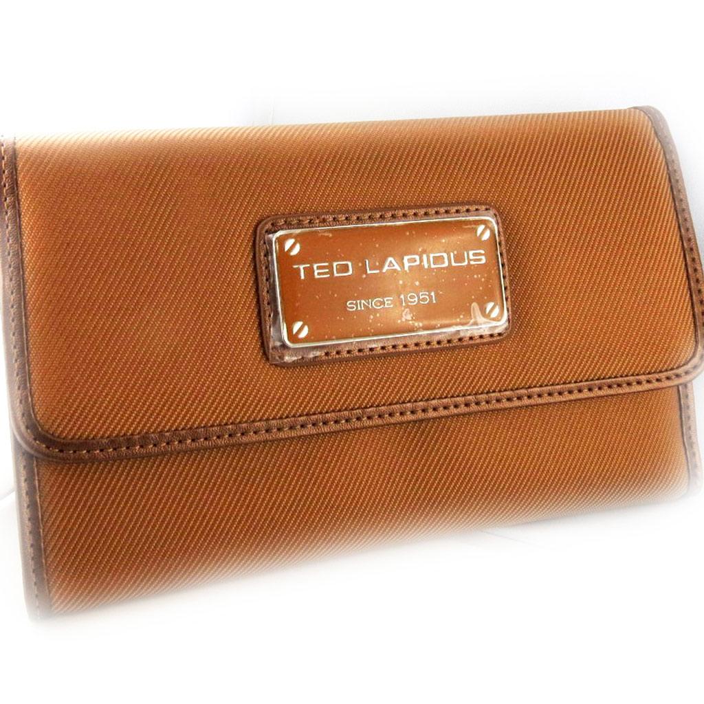 Grand Portefeuille Porte-monnaie \'Ted Lapidus\' camel - 19x12x3 cm - [L2747]