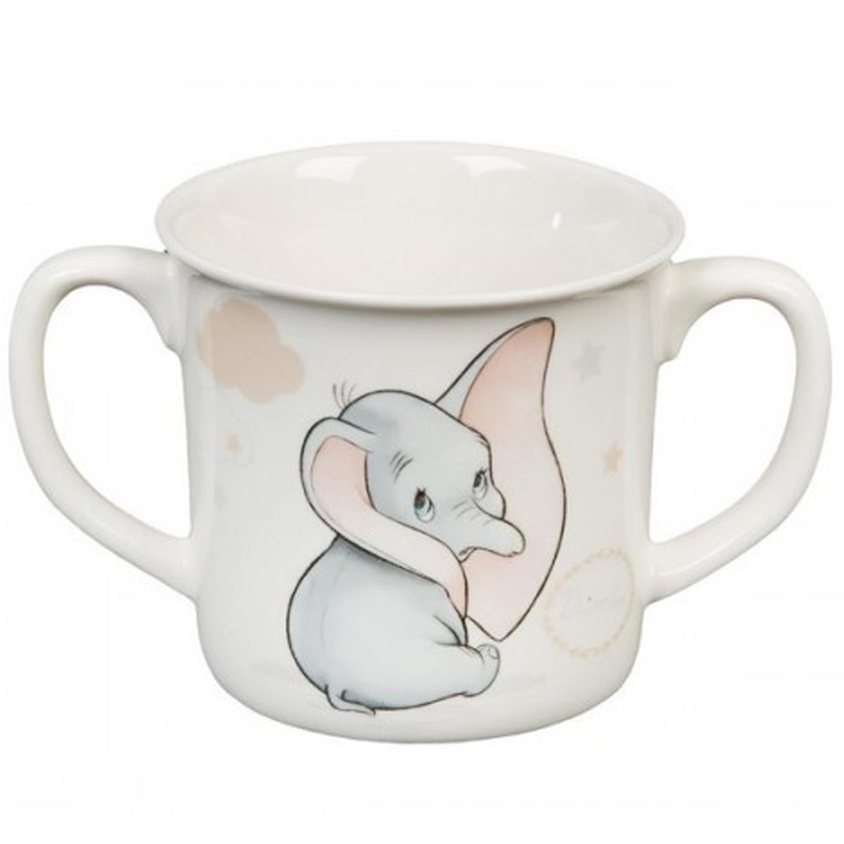 Mug bébé porcelaine \'Dumbo\' (Disney) - hauteur 8 cm - [Q2053]