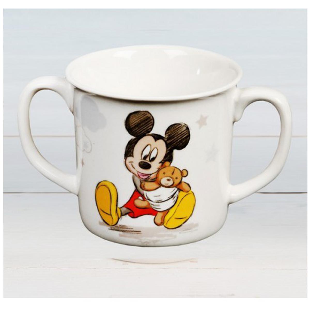 Mug bébé porcelaine \'Mickey\' (Disney) - hauteur 8 cm - [Q2055]