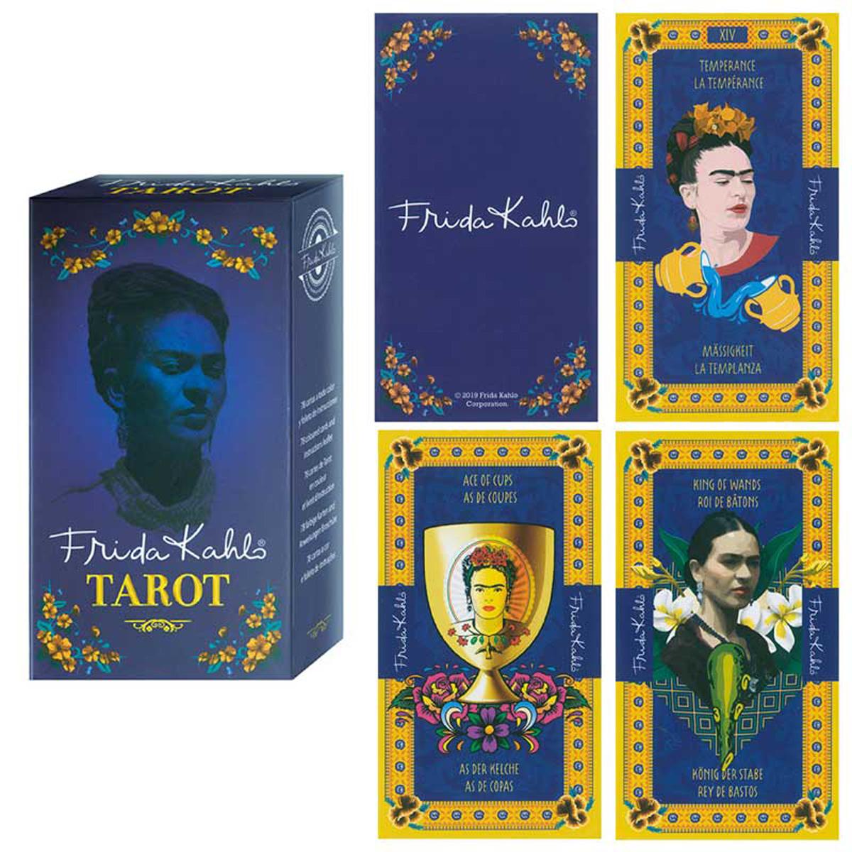 Tarot Créateur \'Frida Kahlo\' bleu - 115x6x3 cm - [R2810]