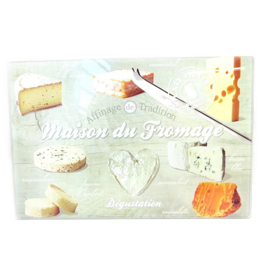 Planche à découpe / dessous de plat  \'Terroir Français\' maison du fromage (30x20 cm) - [M3805]