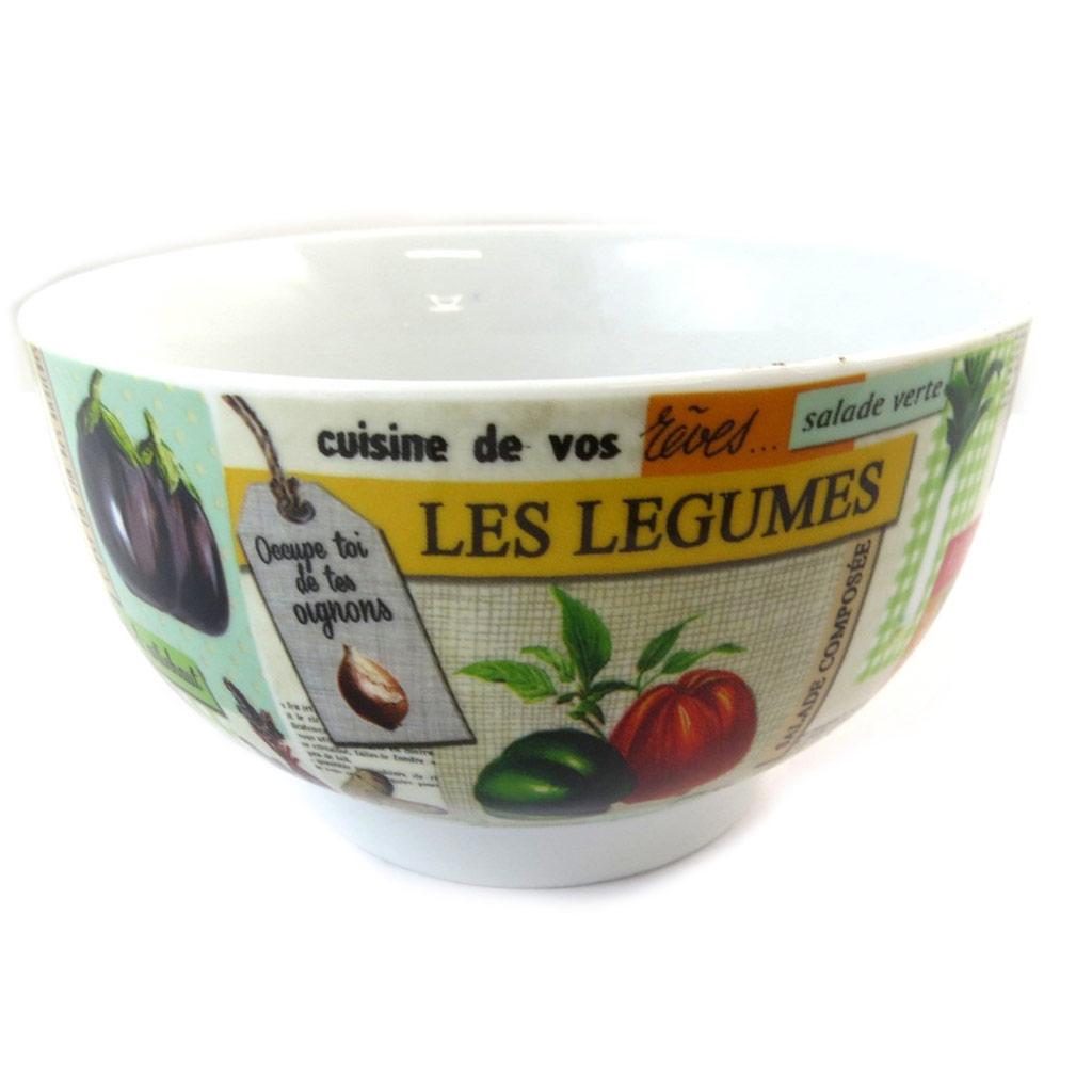 Bol porcelaine \'Au marché primeur\' multicolore - [N5820]
