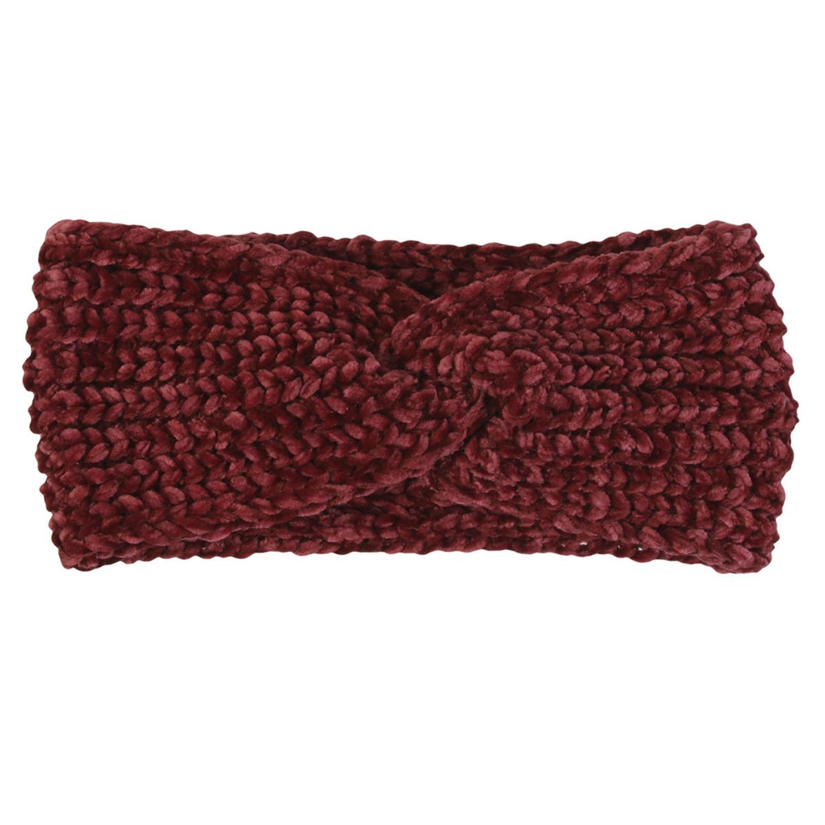 Bandeau Cache oreilles \'Scarlett\' bordeaux - 11 cm - [A1246]