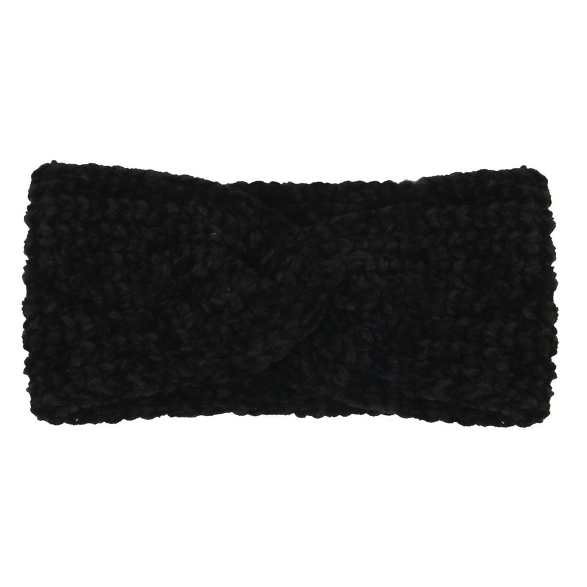 Bandeau Cache oreilles \'Scarlett\' noir - 12 cm - [A1247]