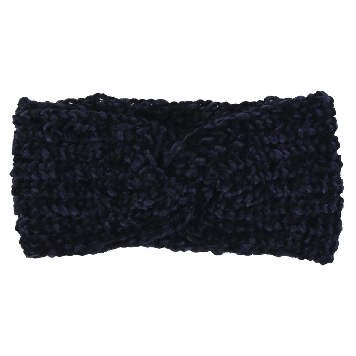 Bandeau Cache oreilles \'Scarlett\' marine - 11 cm - [A1248]