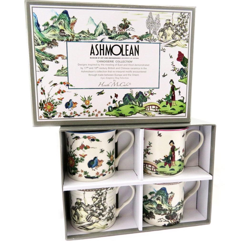 Coffret mugs porcelaine \'Ashmolean Collection\' chinoiserie - 85x85 mm - [L7296]