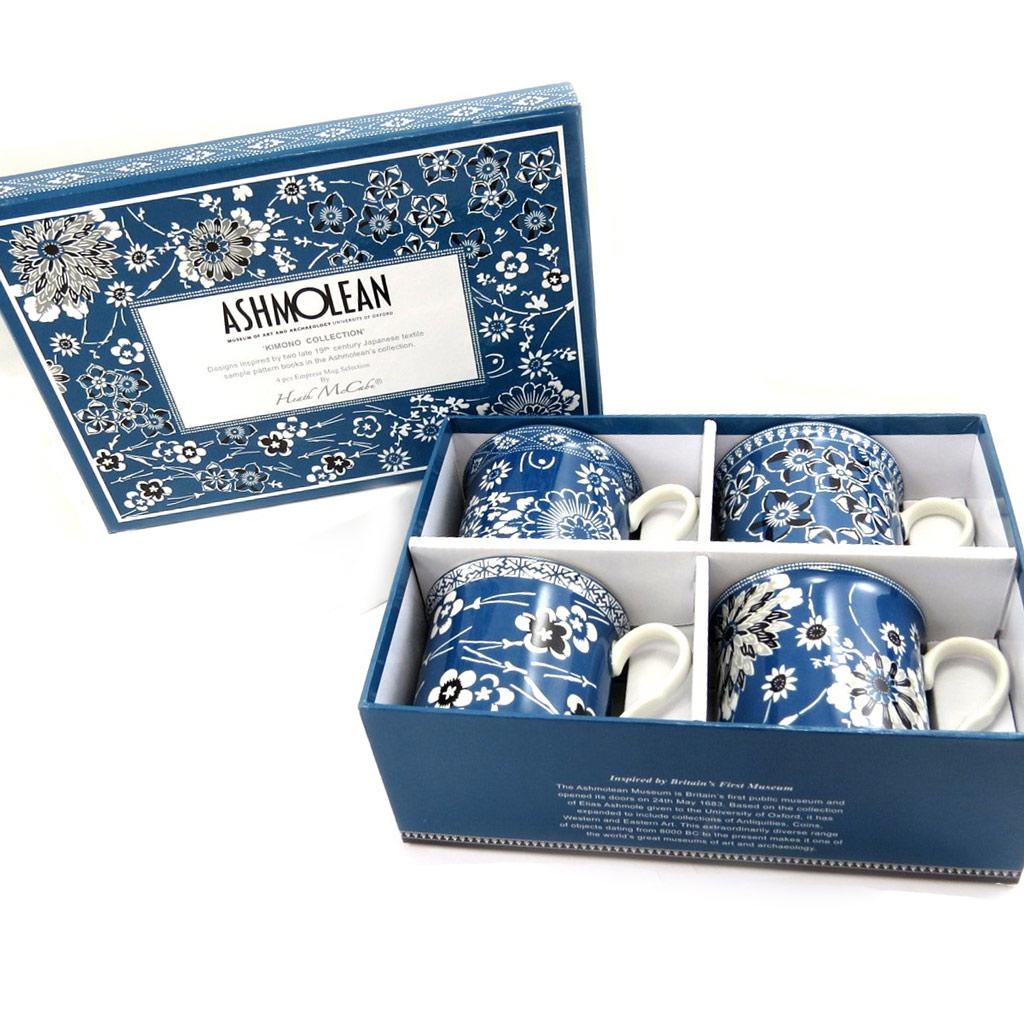 Coffret mugs porcelaine \'Ashmolean Collection\' kimono - 85x85 mm - [L7298]