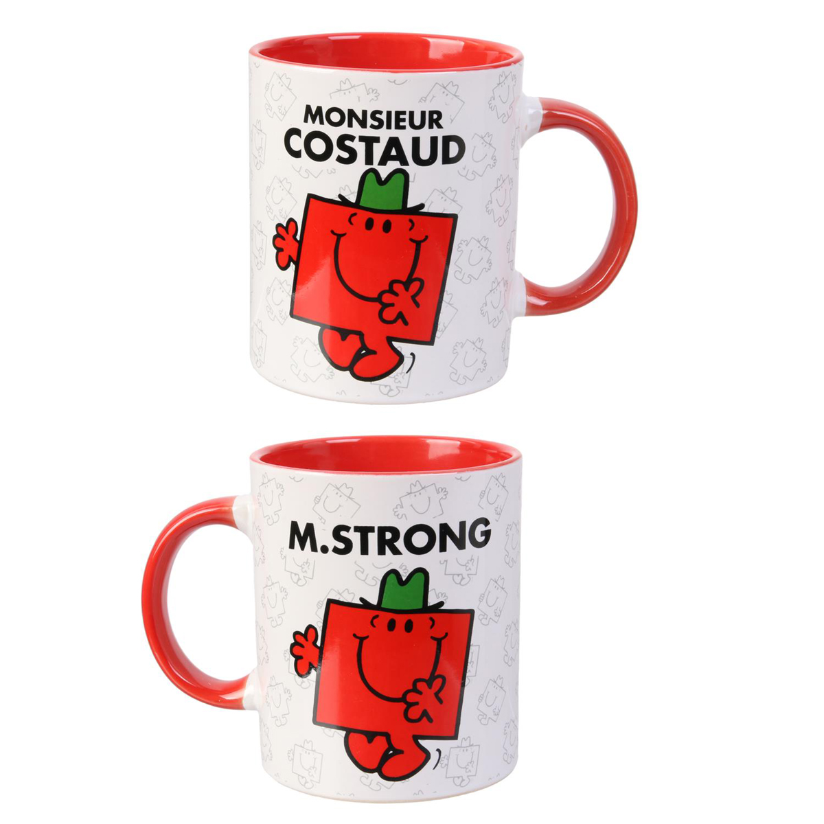 Mug céramique \'Monsieur Madame\' rouge (M Costaud - MStrong) - 95x80 mm - [Q8991]
