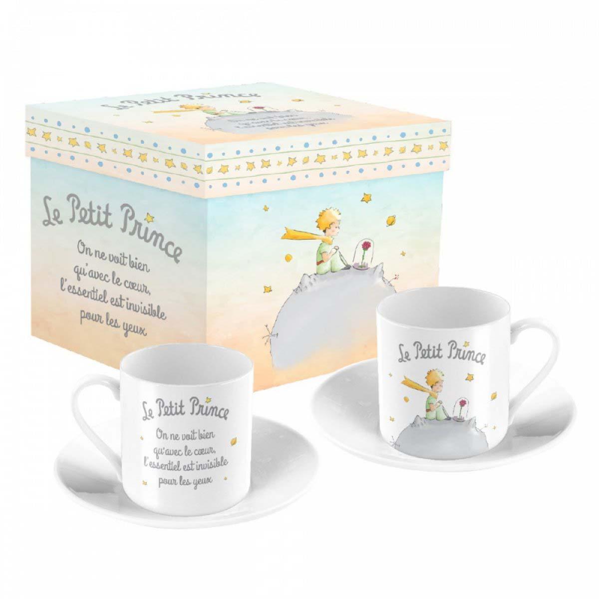 Coffret 2 tasses à café porcelaine \'Le Petit Prince\' - tasse 6x5 cm - [A0849]