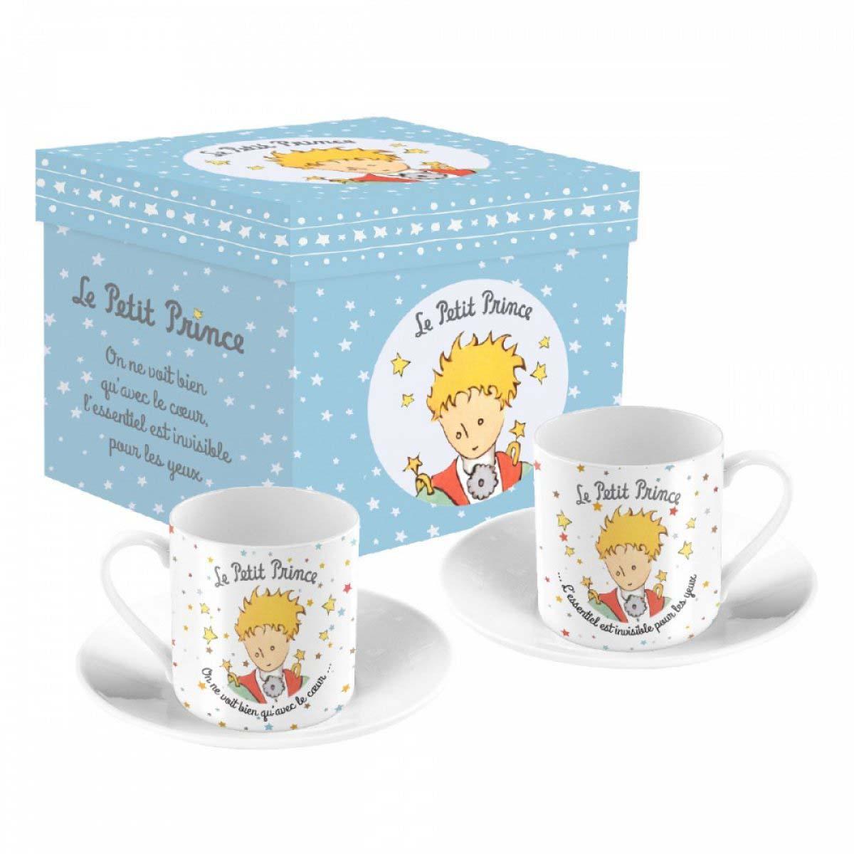 Coffret 2 tasses à café porcelaine \'Le Petit Prince\' - tasse 6x5 cm - [A0850]