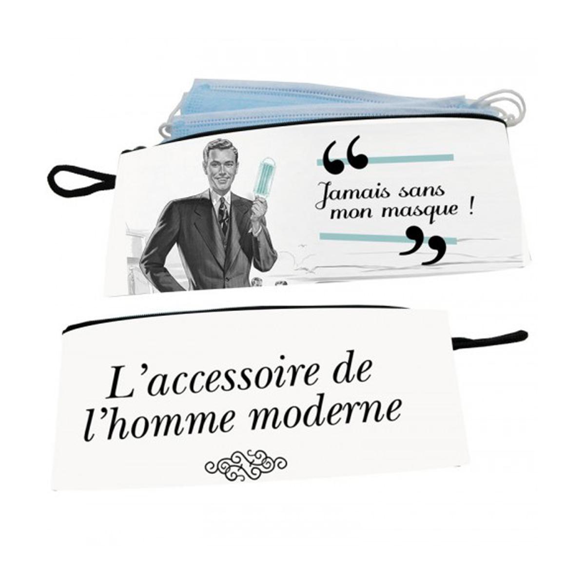 Pochette masques \'L\'Homme Moderne\' - 21x10 cm - [A0930]