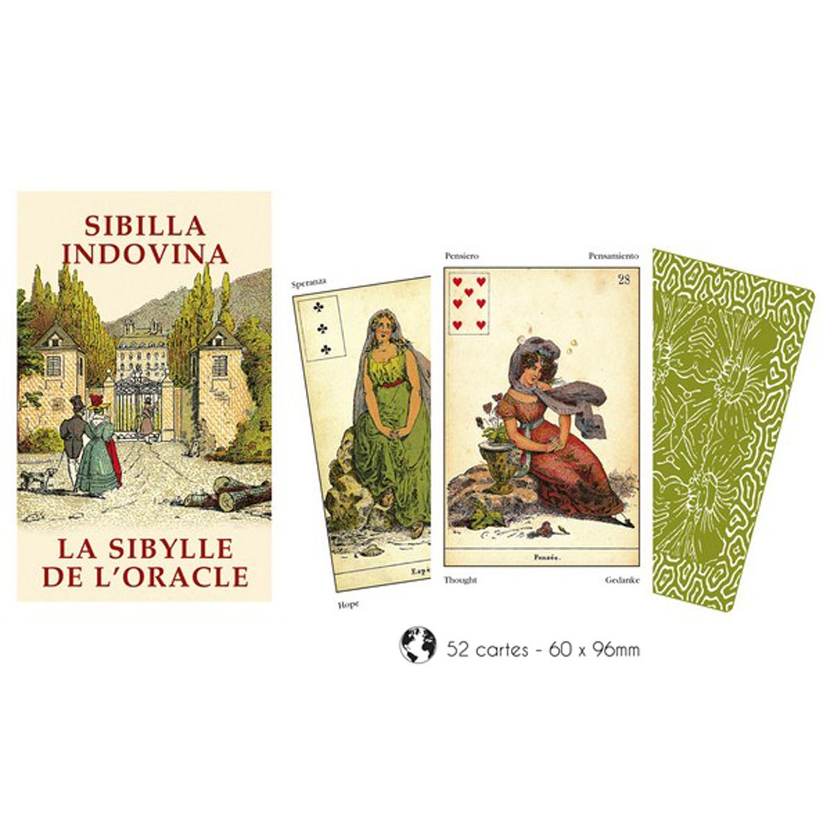 Cartes Oracles \'Sybille de l\'Oracle\' - 10x6x2 cm - [A0943]