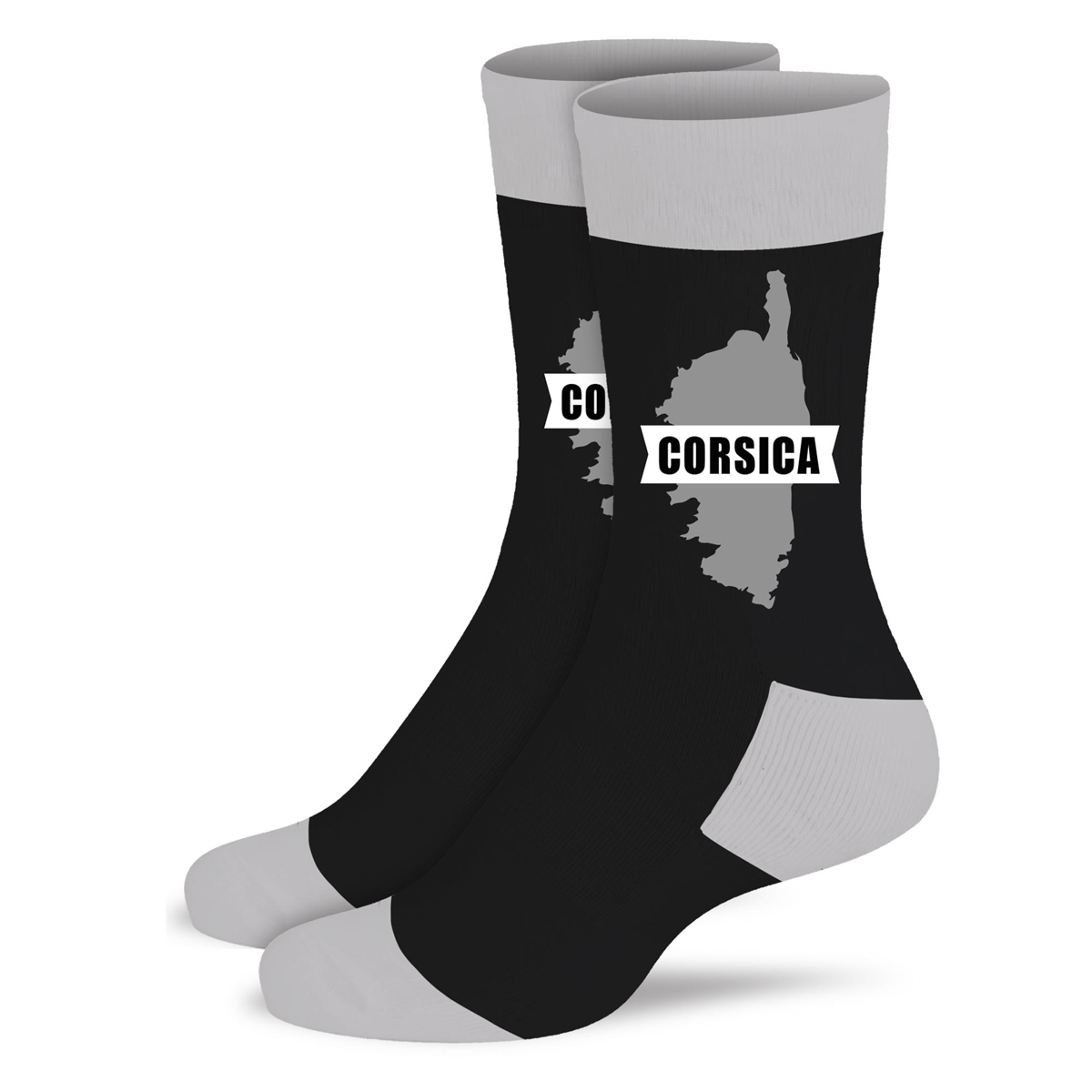 Chaussettes coton tendresse \'Corsica\' noir - taille unique - [A0991]