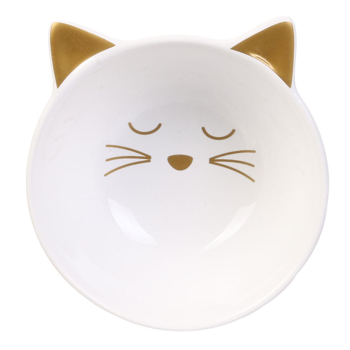Coupelle apéro céramique \'Chats\' blanc - 10x5 cm - [A1230]