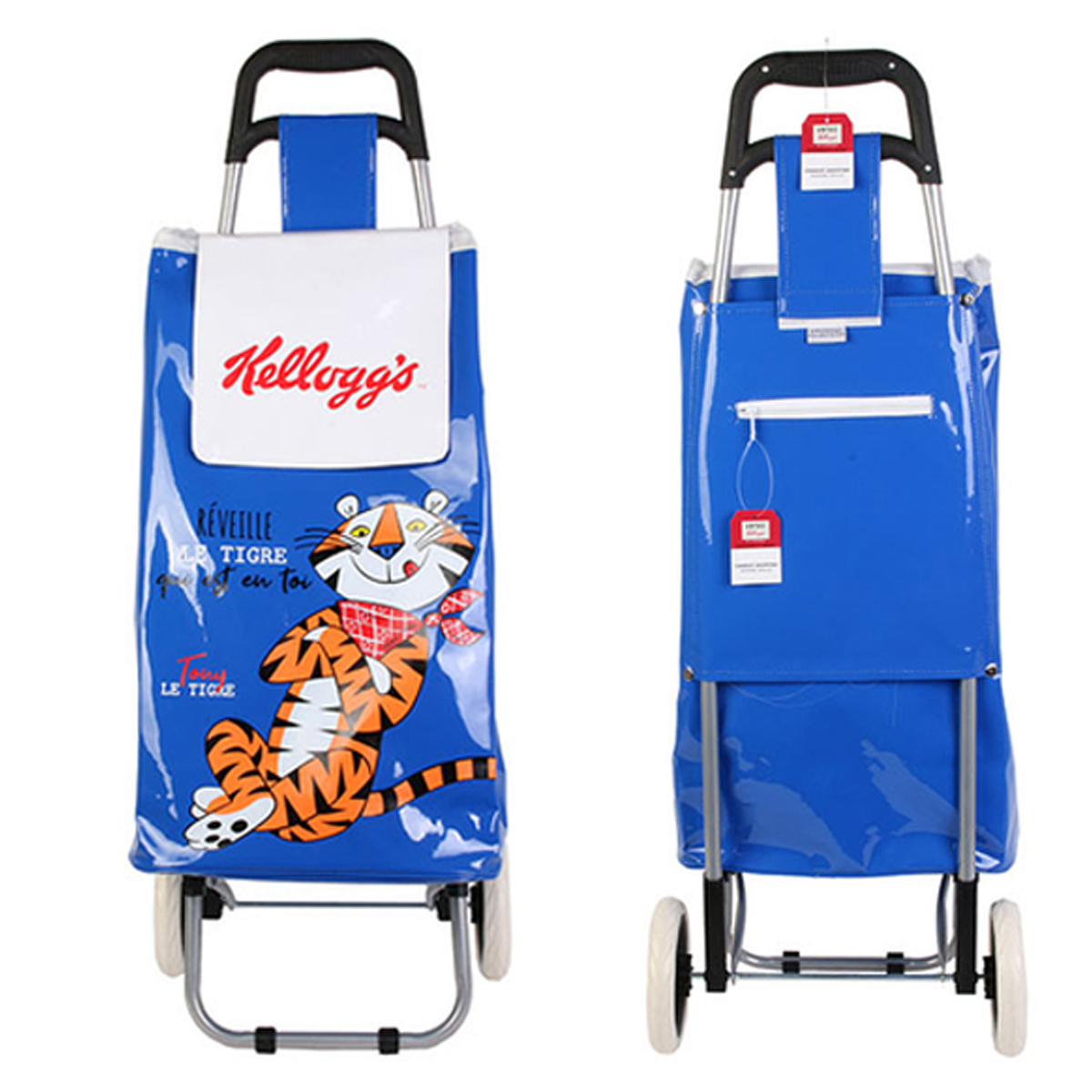 Caddy de course / Chariot shopping \'Kellogg\'s\' bleu - 95x36x31 cm - [A1235]