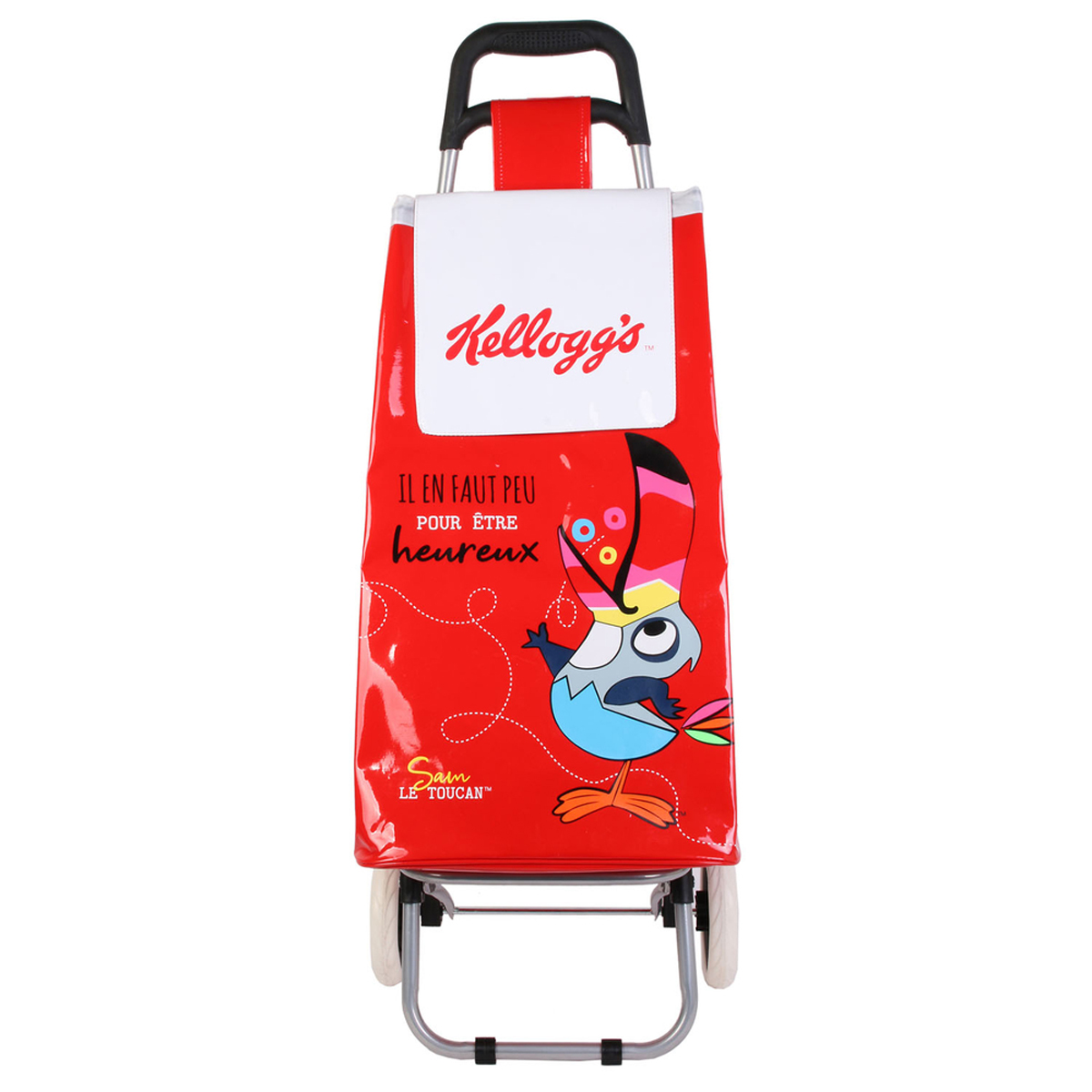 Caddy de course / Chariot shopping \'Kellogg\'s\' rouge - 95x36x31 cm - [A1236]