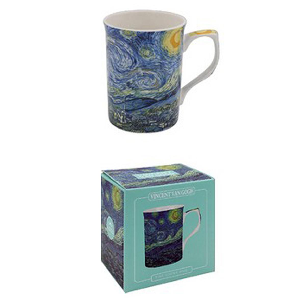 Mug porcelaine \'Vincent Van Gogh\' Nuit Etoilée - 10x75 cm - [A1385]