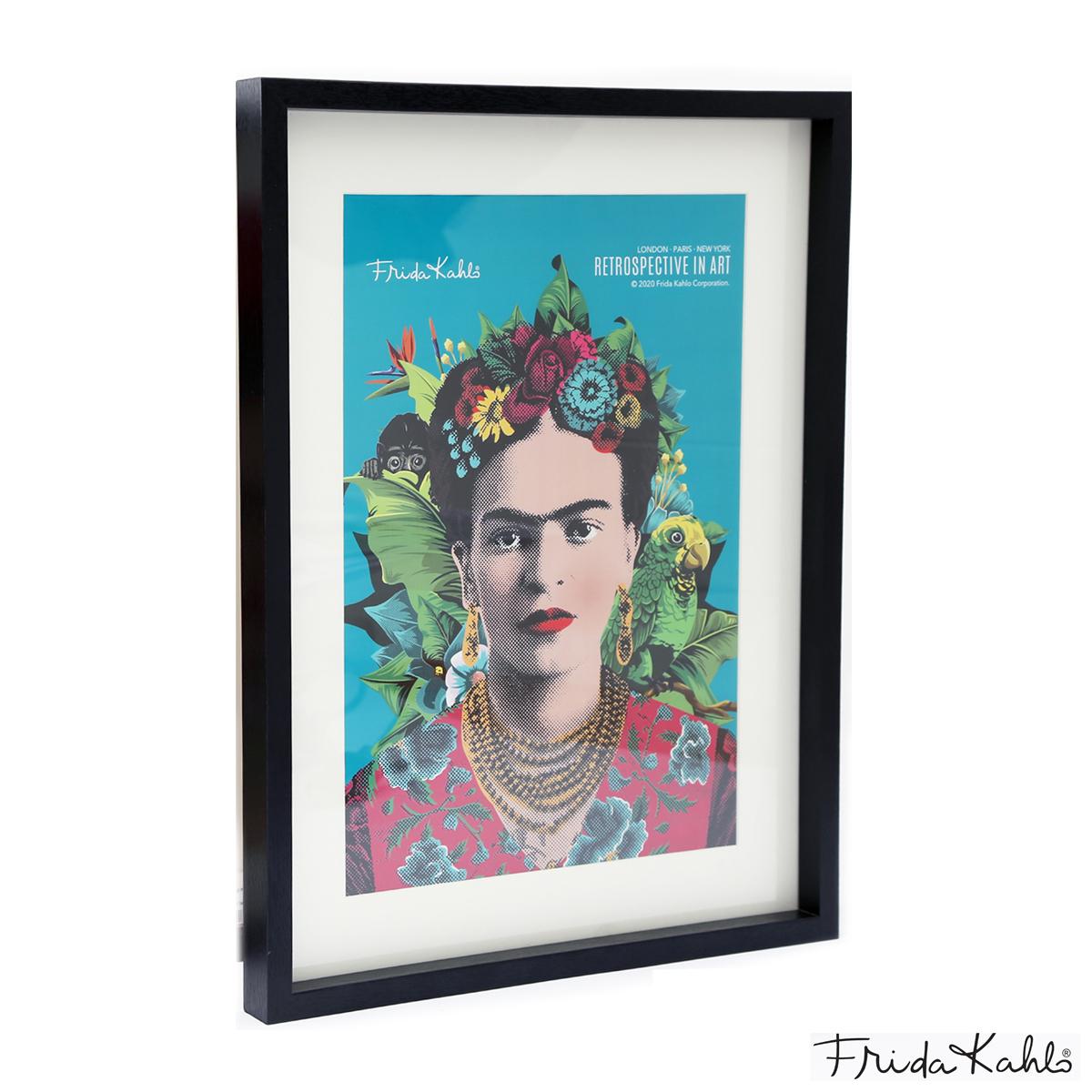 Cadre Tableau \'Frida Kahlo\' turquoise - 40x30 cm - [A1404]