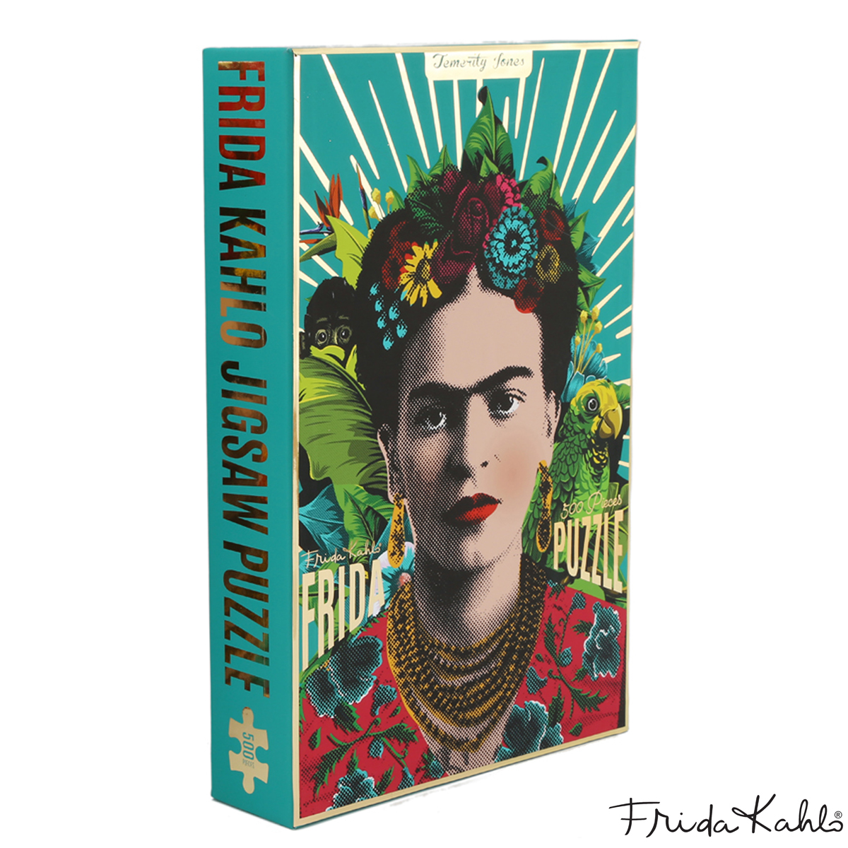 Puzzle créateur \'Frida Kahlo\' turquoise - 48x35 cm (500 pièces) - [A1406]