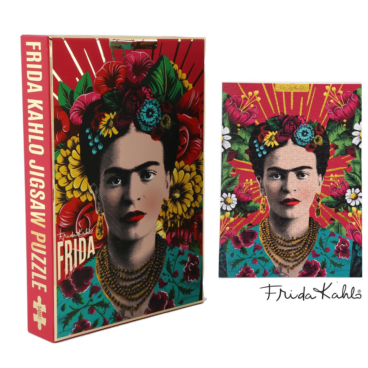 Puzzle créateur \'Frida Kahlo\' rose - 48x35 cm (500 pièces) - [A1407]