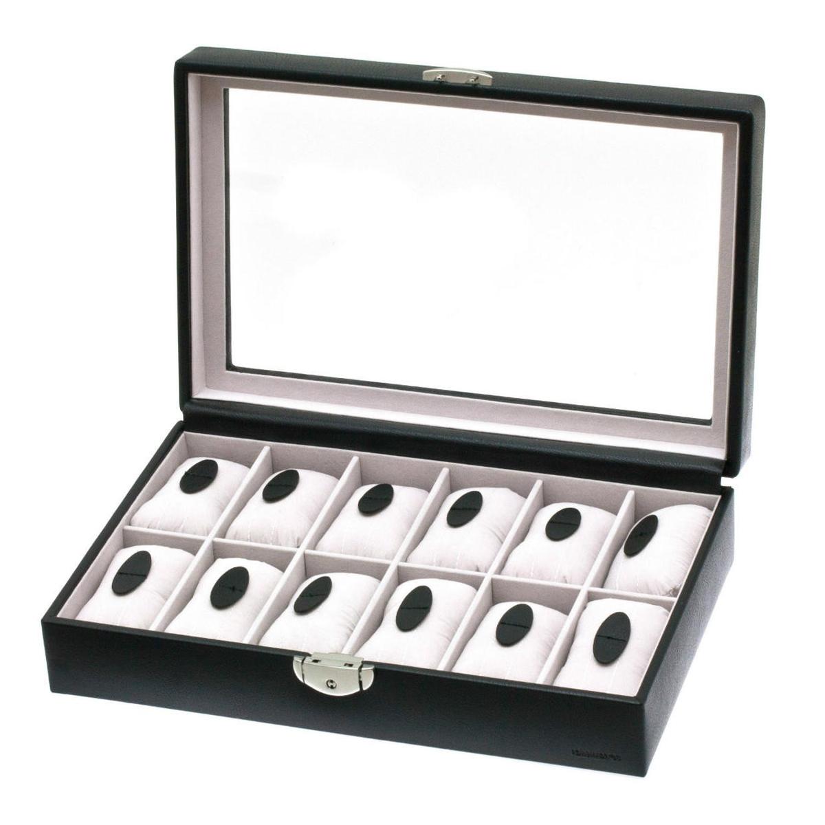 Coffret montres \'Munich\' noir (12 montres) - 33x9x22 cm - [E5100]