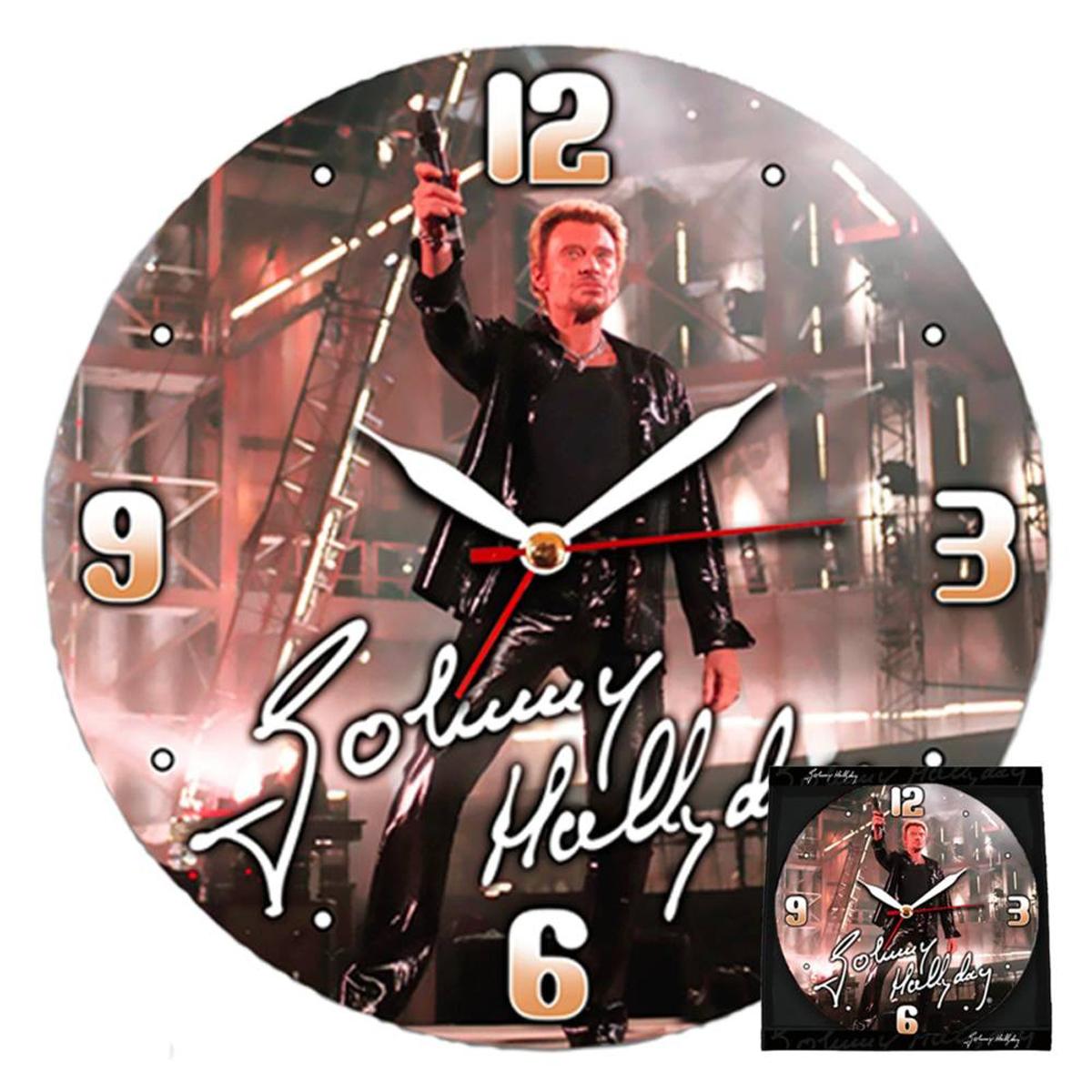 Horloge Murale \'Johnny Hallyday\' sur scène - 38 cm - [H1646]