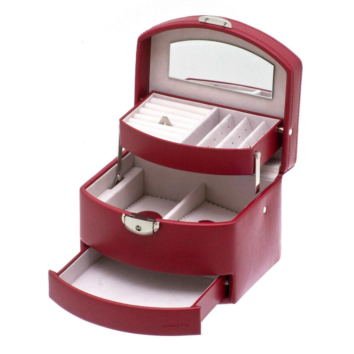 Coffret à Bijoux \'L\'Audacieuse\' rouge - 16x12x12 cm - [I8442]