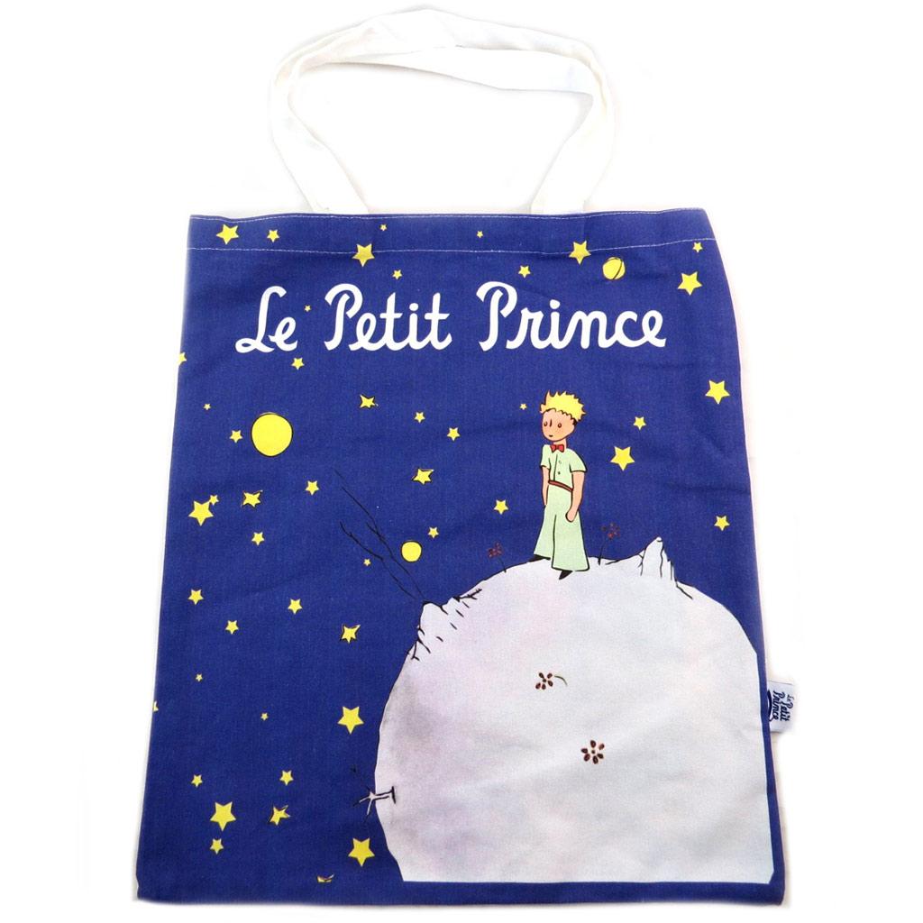 Sac coton / tote bag \'Le Petit Prince\' bleu marine - 445x38 cm - [N7933]