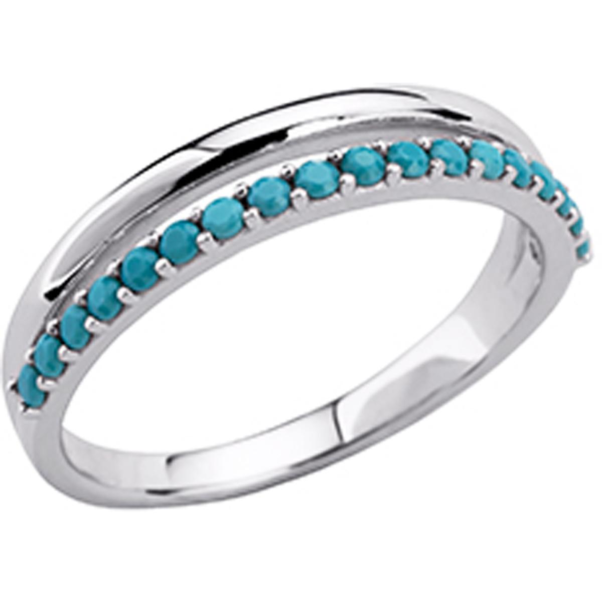 Alliance Argent \'Navajos\' turquoise argenté - [P0757]