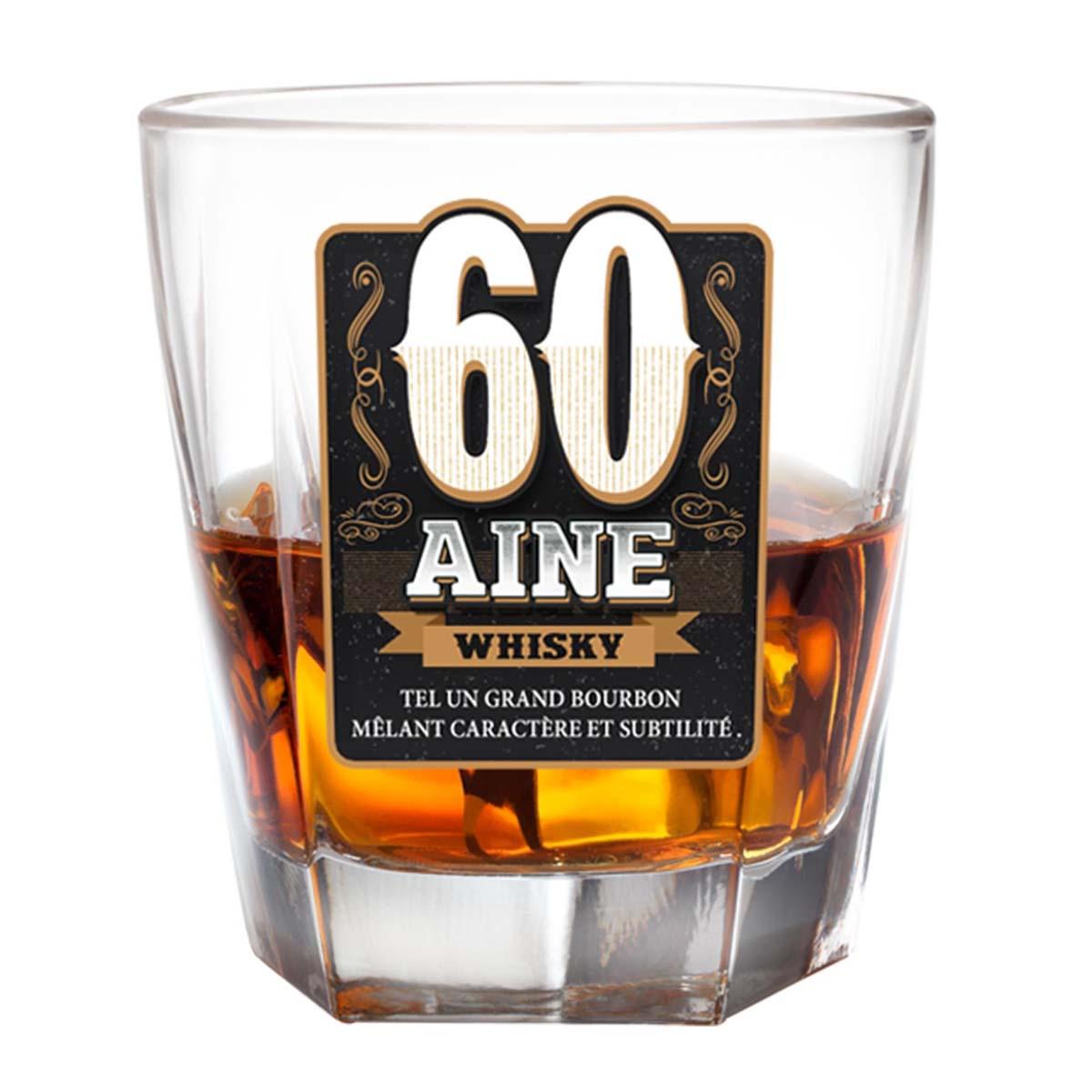 Verre à whisky \'60 ans\'  - [P2695]