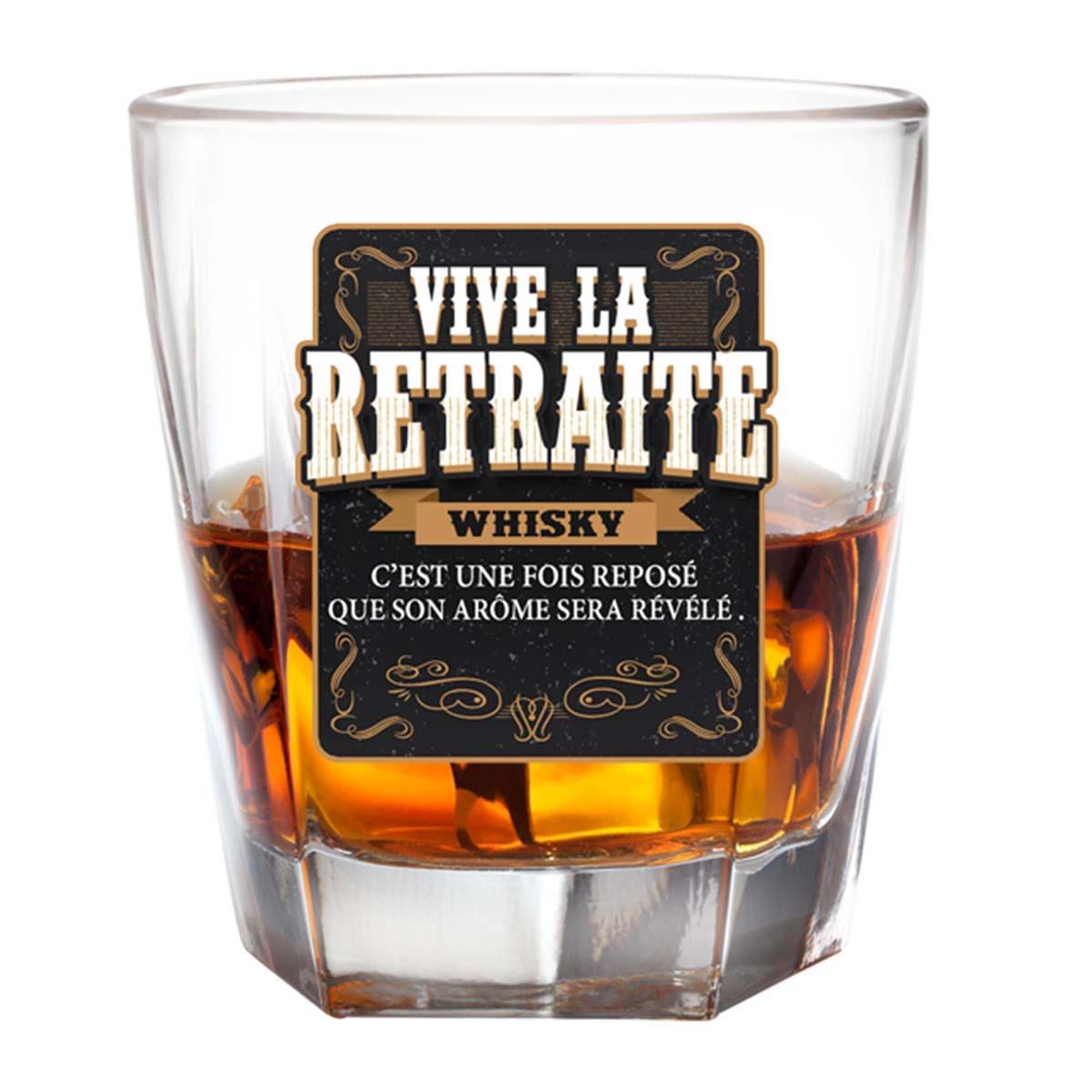 Verre à whisky \'Vive le Retraite\'  - [P2696]